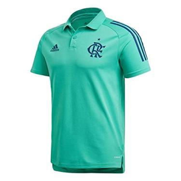Camisa gola Polo Flamengo de viagem verde (G, Treino)
