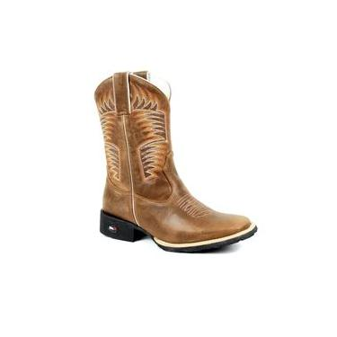 Bota Mr West Boots Texana Fossil Tabaco Florão