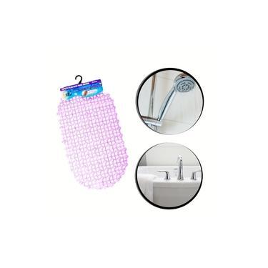 Imagem de tapete para banheiro box Plástico 36x66cm Original roxo