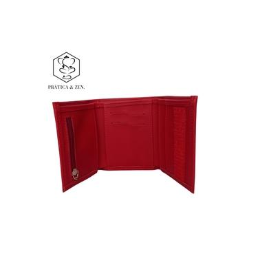 Carteira PZ P com Velcro - Vrm forro Prosperidade