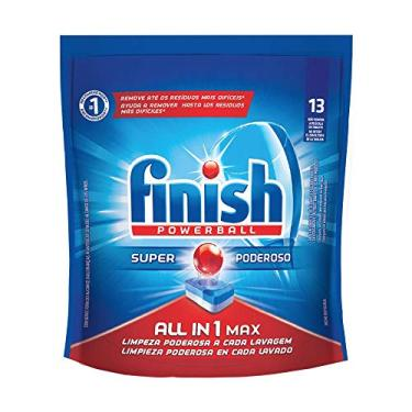 Tabletes Detergente Para Lava-Louças Finish Powerball, 13 Tabletes