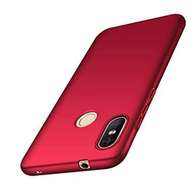 """Capa Protetora Anti Impacto Para Xiaomi Mi A2 Lite Tela De 5.84"""" Capinha Fosca De Acrílico - Vermelha"""