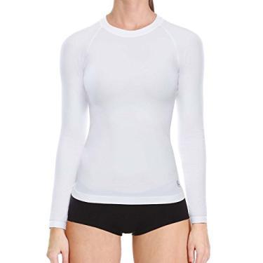 T- Shirt Lupo Feminina Térmica I-Max Manga Longa (Adulto) Tamanho: P | Cor: Branco