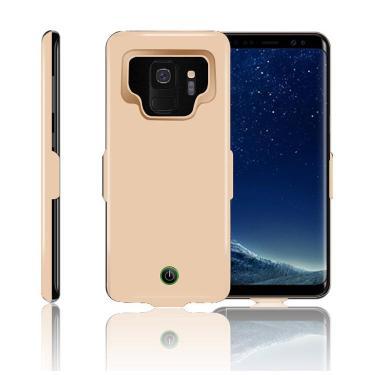 Capa de carregamento de bateria para samsung, galaxy s8 s9 plus note 9 a8 plus 2018, embalagem de
