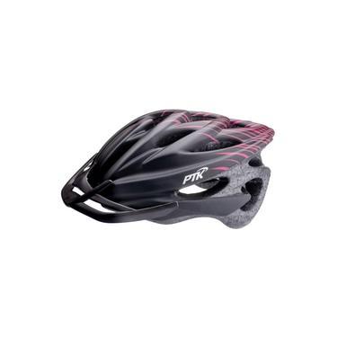 Imagem de Capacete Ciclismo Runner Ptk Mtb Speed Preto/Rosa 56 a 62cm