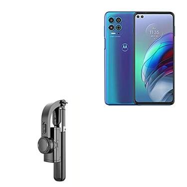 Suporte e suporte BoxWave para Motorola Moto G100 [Gimble SelfiePod] Bastão de selfie estabilizador extensível de vídeo para Motorola Moto G100 – Preto