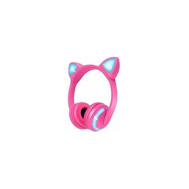 Fone De Ouvido Bluetooth Orelha De Gato Com Led Headfone Gatinho