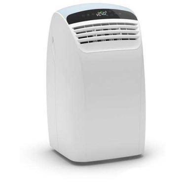 Imagem de Ar Condicionado Portátil Piu Silent Olimpia Splendid com 12.000 BTUs, Quente e Frio, Função Turbo, Branco e Cinza