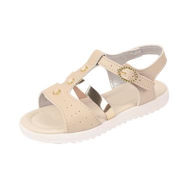 Sandália Infantil Raniel Calçados com Pedras Marfim  menina