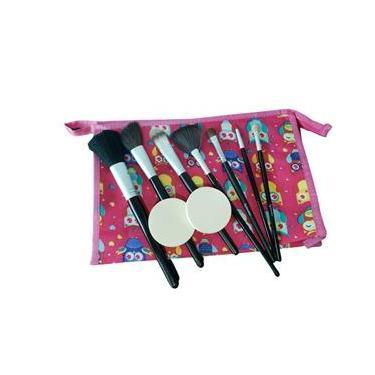 Kit de pinceis maquiagem ganhe necessaire e esponjas