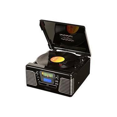 Rádio Autorama Preto 5W com USB, MP3, CD, Rádio e Vinil Ribeiro e Pavani