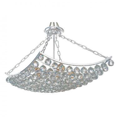 Lustre de Cristal Ezé 5 Lâmpadas Bella Iluminação Transparente