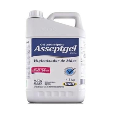 Álcool Gel Antisseptico Para As Mãos Hidratante Start 4,3Kg