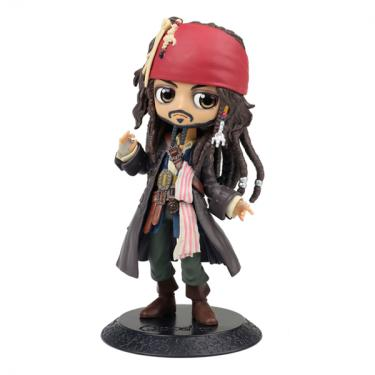 Imagem de Boneco Piratas do Caribe Q Posket Jack Sparrow - Bandai