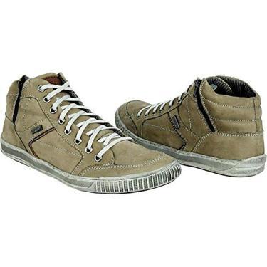 Coturno Casual Masculino Youth Couro Cinza 1040 Tamanho de Calçado Adulto:43