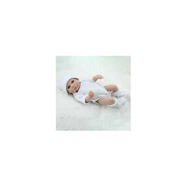 Imagem de Boneca Bebe Reborn Laura Baby 25 centimetros completa de Silicone boneca reborn Mini realista pode tomar banho