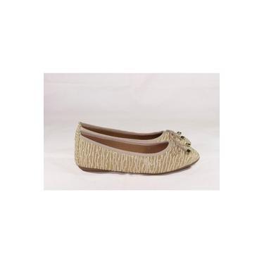 Sapatilha Lacinho Feminina Gomes Shoes Dourado