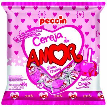 Pirulito Cereja do Amor 480g Peccin 1019003