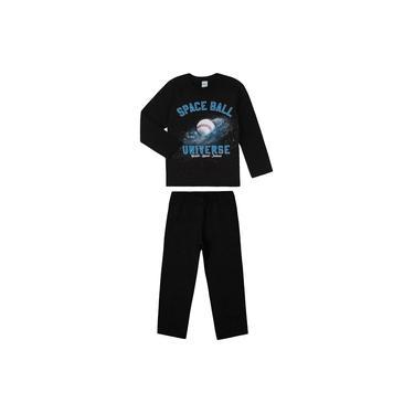 Conjunto Infantil Blusão com Calça Rovitex Kids Preto