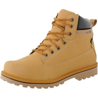 Bota Dhl Calçados Coturno Neway Crshoes Zíper Mostarda  masculino