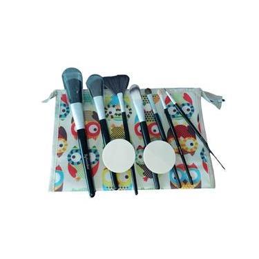 Kit de pinceis com estojo portal pincel e esponjas
