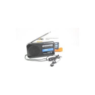 Mini Rádio Portátil AM/FM Retrô Lelong LE-653 Analógico Alça Fone de Ouvido