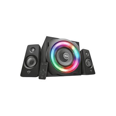 Speaker Set GXT 629 Tytan RGB com Controle Remoto Iluminação RGB Pulsante Caixa de Som 2.1 Trust