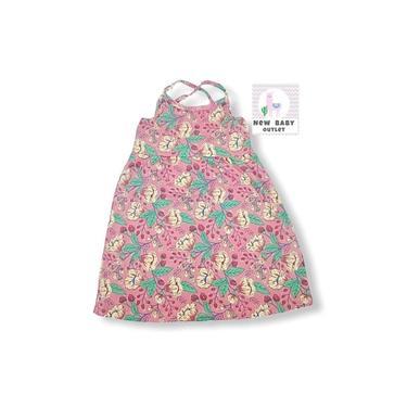 Vestido em cotton com alcinha e cruzamento nas costas coral estampado flores
