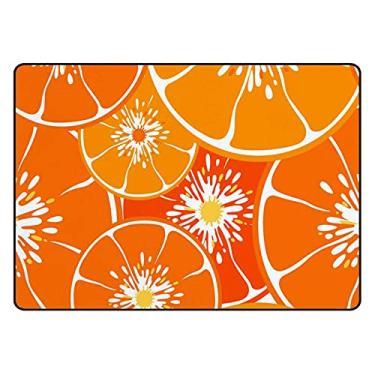 Imagem de Tapetes de banheiro para porta de banheiro tapete de banheiro decoração laranja interior absorvente antiderrapante 60 x 40 cm
