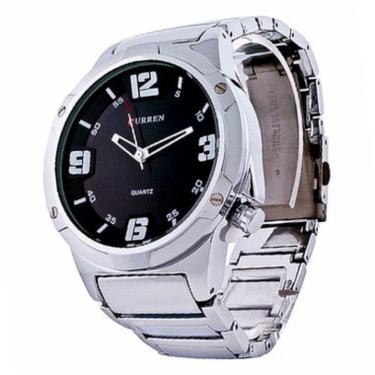 4a6e48fe488 Relógio Curren Analógico Casual 8111 Prata masculino
