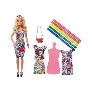 Boneca Barbie Crayola Roupas De Colorir Frutas Mattel Ggt44