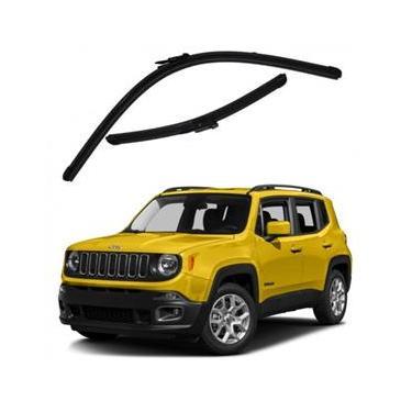 Kit Palhetas Limpador de Parabrisa Dianteiro Jeep Renegade Ano 2016 - Atual