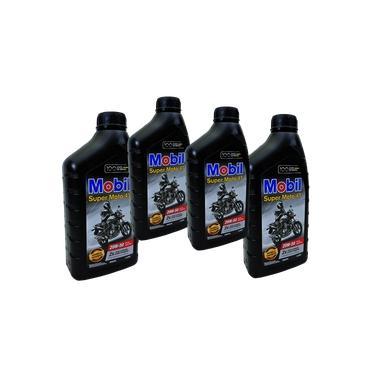 Kit Troca De Oleo 4 Litros Mobil 20w50 4T Mineral Api Sl + Filtro De Oleo Fram Ph 6017 - Yamaha Xj6 - Honda Hornet