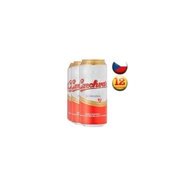 Imagem de Cerveja Tcheca Czechvar Lager Lata 500ml - Pack com 12
