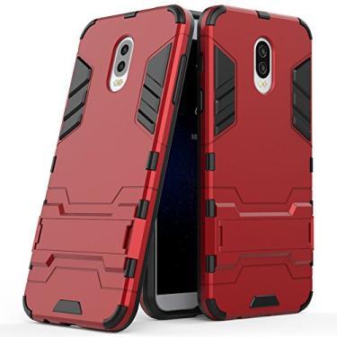 SCIMIN Capa para Samsung Galaxy J7 Plus, capa híbrida para Galaxy J7 Plus, Galaxy J7+ com suporte, camada dupla híbrida à prova de choque, capa rígida com suporte para Samsung Galaxy J7 Plus de 5,5 polegadas (J7+)