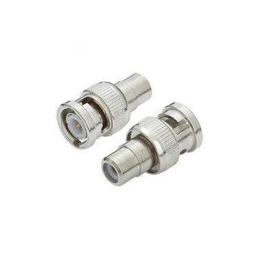 Adaptador Plug Bnc Macho Para Rca Fêmea Metal Níquel 64 1 348 003-6041