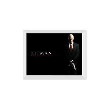 Poster de Hitman Absolution Com Moldura - Branco