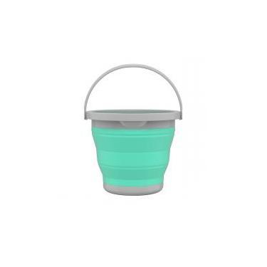 Balde Para Limpeza Flash Limp Retrátil 5L Verde Água