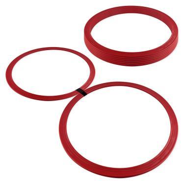 Argola de Agilidade - Kit com 8 - Vermelho - Muvin