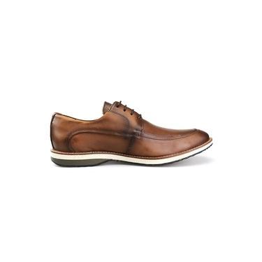 Sapato Casual Oxford Masculino Couro Caramelo