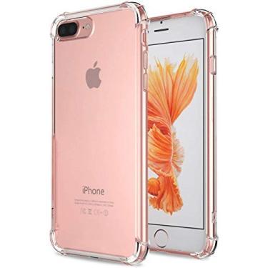 Capa Capinha Anti Impacto Shock Resistente para Apple iPhone 7 Plus 8 Plus, Tela 5.5 Polegadas, Transparente