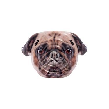 Boia Inflável Colchão Cachorro Pug Gigante para Piscina 147 cm