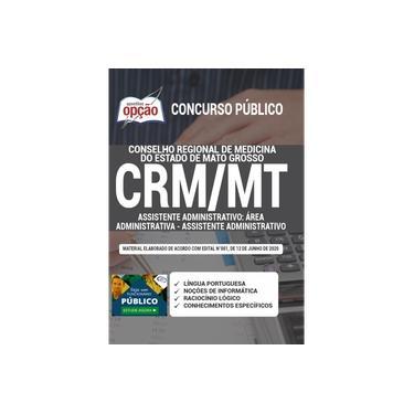Imagem de Apostila Conselho Medicina CRM MT Assistente Administrativo