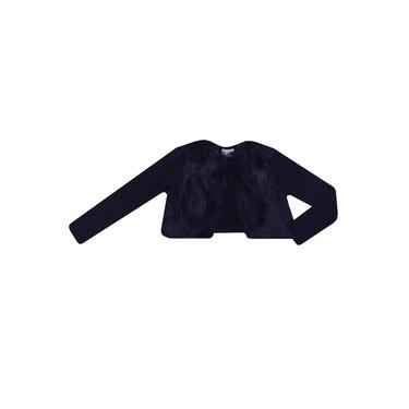 Casaco Infantil Momi Bolero com Pelo Azul Marinho