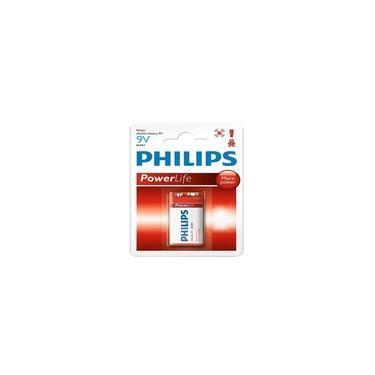 Bateria 9V Alcalina Power Life Philips Original