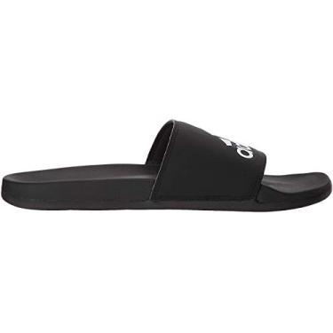 Imagem de Adidas – Chinelo masculino Adilette Comfort, Black/Black/White, 13