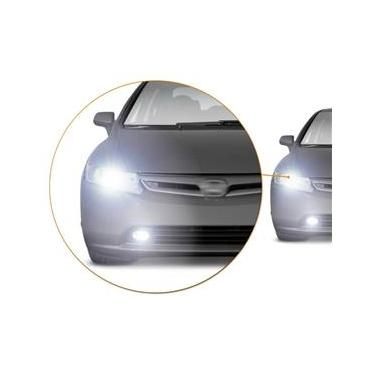 Farol Milha Honda Civic 06 a 08 Auxiliar Neblina + Lâmpadas Super LED H11 6000k