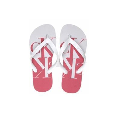 Chinelo calvin Klein Jeans vermelho e Branco