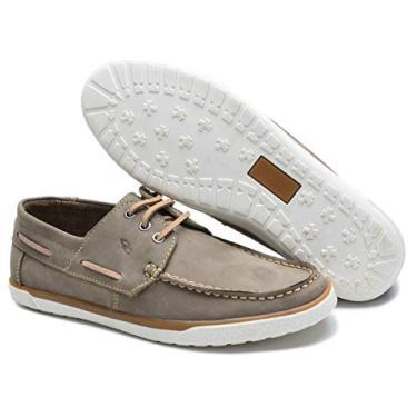 Sapato Mocassim Clacle Docksider Em Couro Estilo Esportivo Numeração 37/45 G110 B Dt (40, Marfim)