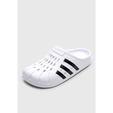 Sandália adidas Performance Adilette Clog Branco/Preto  masculino